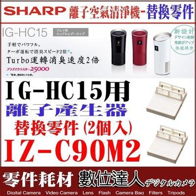 【數位達人】SHARP 替換耗材 IZ-C90M2【2入】/ IG-HC15 空氣清淨機 用 離子產生器