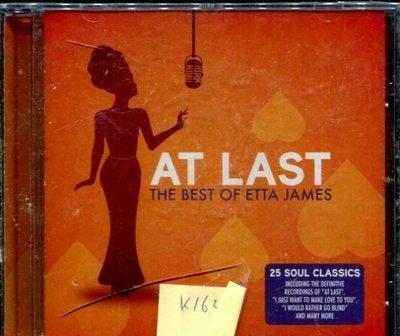 *真音樂* AT LAST / THE BEST OF ETTA JAMES 全新 K16429 (殼破)