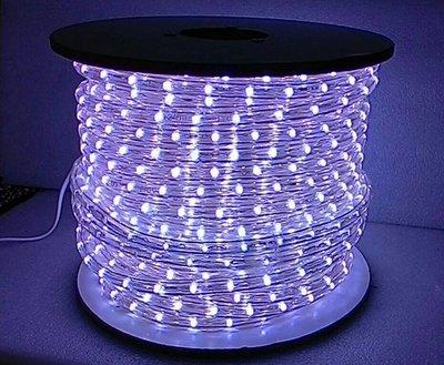~藍光~白光~圓二線LED水管燈 舞台燈 聖誕燈 裝飾燈 省電 軟管燈 50米 一箱 一米剪裁 AC110V