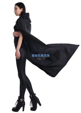 披風 披肩 俠女斗篷 1.3米(單面 帶帽) 海盜 俠客 巫婆披風 惡魔披風 吸血鬼披風【塔克玩具】