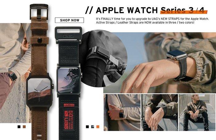 光華商場。包你個頭【UAG】apple watch 44mm 42mm 手錶 尼龍材質 錶帶 迷彩白 黑色 橘色