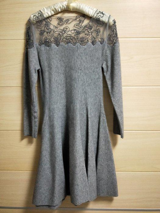 丹丹衣坊--(全新)歐式灰色薄紗小禮服洋裝