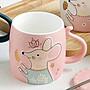 鼠年鼠你最有錢 400ML造型馬克杯 屬你最有錢  鼠杯 可愛 簡約 愛不釋手 鼠年馬克杯 鼠錢鼠不完 送上蓋 送小湯匙