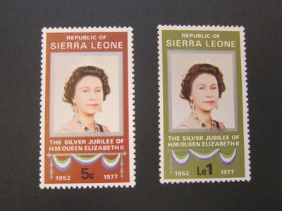 【雲品】塞拉利昂Sierra Leone 1977 Sc 440-41 set MH 庫號#63604