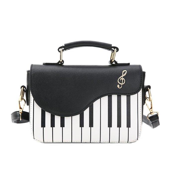 ╰☆美弦樂器☆╯女新款包包鋼琴包琴鍵包單肩女包