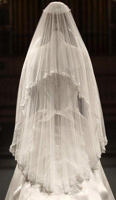 【❤妍麻LOVE嚴選❤ 】新款新娘結婚頭紗奢華復古車骨蕾絲短款婚紗軟頭紗促銷