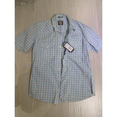 100%全新【L.O.G.G H&M】短袖衫Shirt Jacket (Size L,長29寸,膀17寸,袖10寸,胸圍44寸)藍色格子,原$149