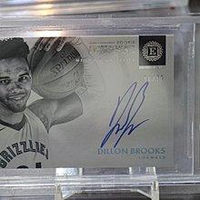BGS鑑定卡~2018-19 ENCASED RC Dillon Brooks~限量99張~新人簽名卡~灰熊隊球星