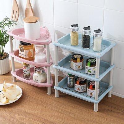 廚房寶!!!塑料多層浴室置物架衛生間收納架三角臉盆架廚房落地整理架儲物架