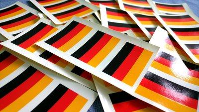 【衝浪小胖】德國國旗貼紙/一次需購買20組