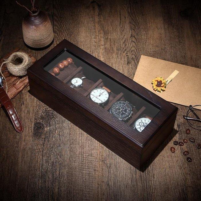 現貨/羅威木質製手錶盒手錶串盒首飾項鍊收納盒收藏盒展示盒五表位123SP5RL/ 最低促銷價