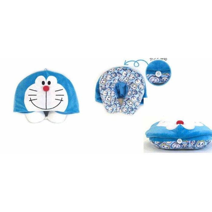 {阿猴達可達}日本空運 Doraemon 哆啦A夢 小叮噹  頸枕 抱枕 脖子枕頭 午睡枕 兩用款 全新特價790元