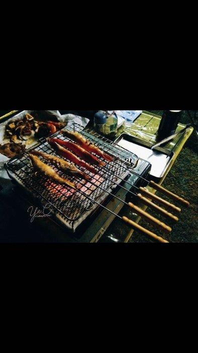 304食品級不鏽鋼防燙烤肉叉3支入台灣製作(45cm)