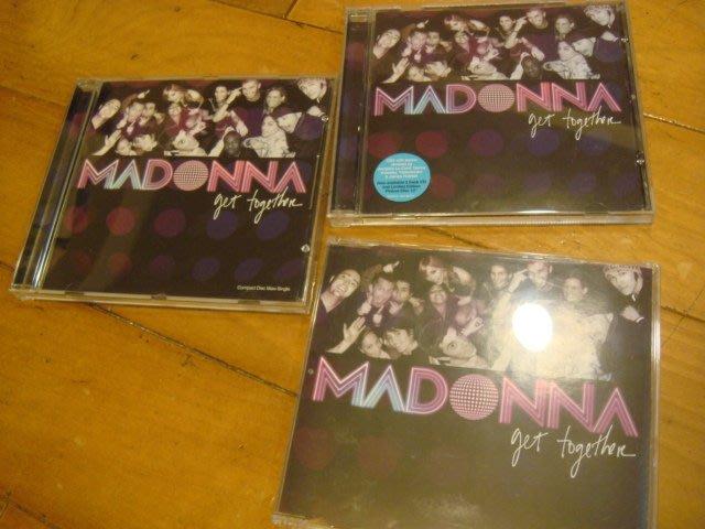Madonna 瑪丹娜=單曲 get together=英國cd1+cd2+美版=一起賣