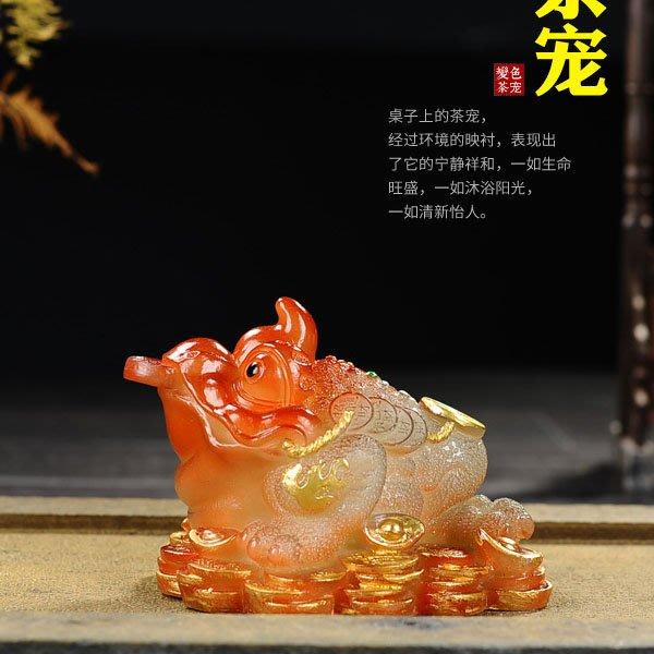5Cgo【茗道】含稅會員有優惠 37563260883 招財變色金蟾茶寵茶玩茶壺茶杯茶海泡茶功夫茶茶具配件創意大號擺件