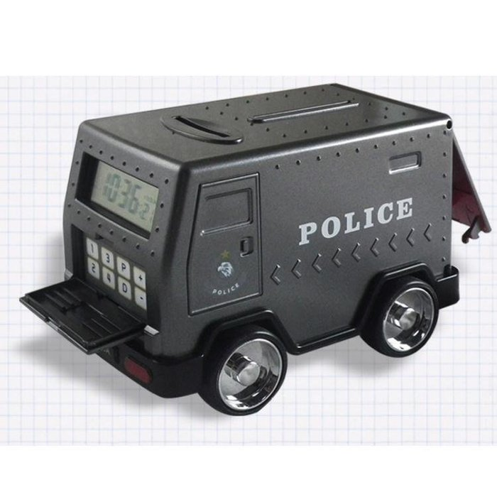 YEAHSHOP 創意小汽車存錢罐運鈔車鬧鐘時鐘Y185