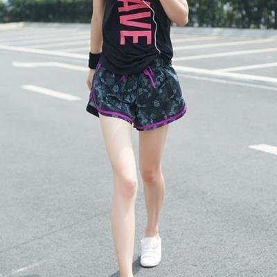 YEAHSHOP 大碼跑步健身運動短褲女胖MM寬鬆無內襯單Y185