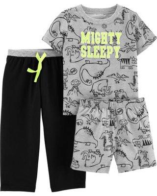 MIABABY 美國童裝 Carter's 小男童恐龍短袖睡衣3件組 24M 現貨