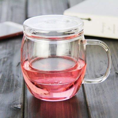 琉香2016年新品耐熱玻璃花茶茶杯三件杯茶具手工環保個人玻璃杯