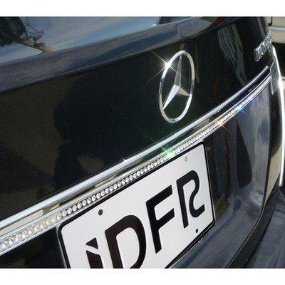 IDFR ODE 汽車精品 M-BENZ C-W204 07-11 鍍鉻鑲鑽後箱飾條-810x25mm
