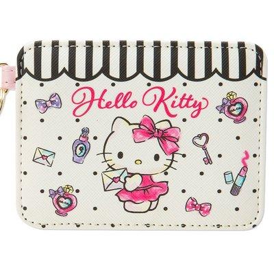 【現貨】伸縮票卡套 三麗鷗 凱蒂貓 Hello kitty 黑點點 悠遊卡夾 日本進口正版授權