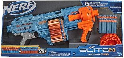 【W先生】孩之寶 NERF 菁英系列 Elite 2.0 Shockwave RD-15 爆震波 軟彈槍 HE9531