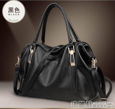 手提包 中年女包時尚百搭手提媽媽軟皮包女士單肩斜挎容量大包包