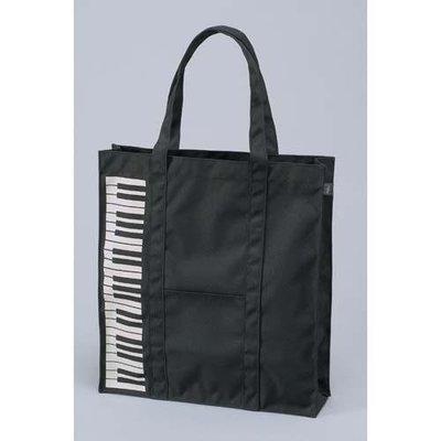 ~~凡爾賽生活精品~~全新日本進口黑色琴鍵造型側背包~日本製