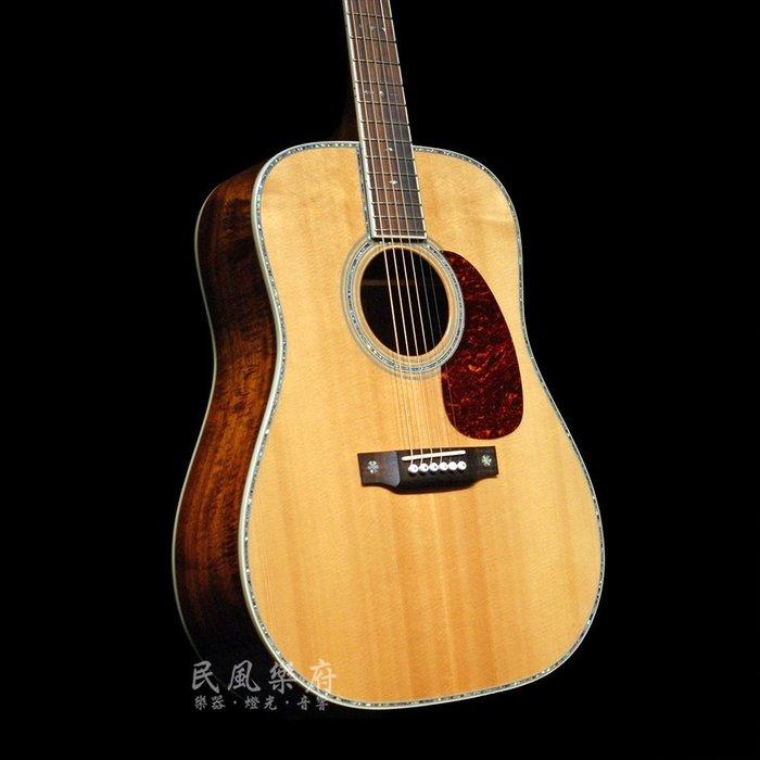 《民風樂府 》Sigma DK-42 夏威夷相思木KOA 華麗貝殼鑲嵌  單板民謠吉他