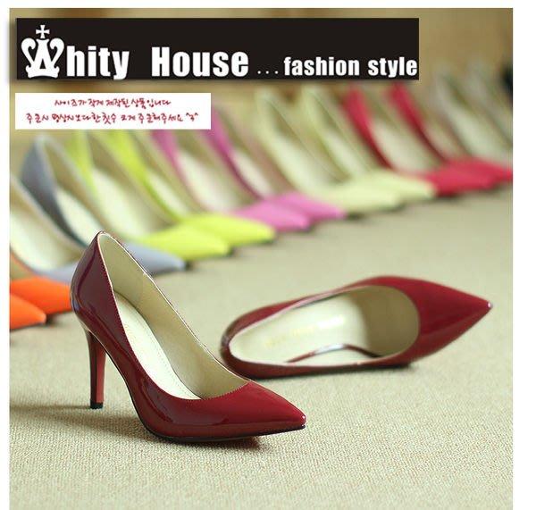 WHITY‧韓國MZ品牌 韓國製 真皮高跟尖頭鞋OL 經典必備大愛 舒適軟底 手工 S3KY856