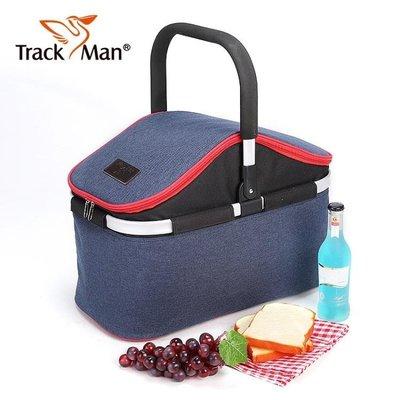 【蘑菇小隊】戶外露營帶蓋手提保溫包折疊野餐籃子旅游便攜-MG70717