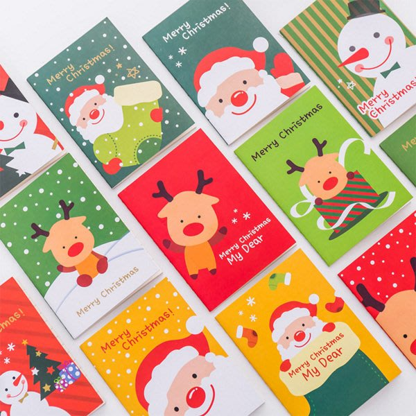 《Jami Honey》【XM0085】聖誕節老人雪人麋鹿手掌型隨身筆記本