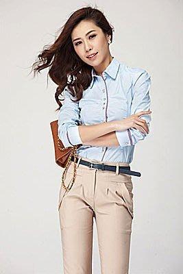 =EZZ=518韓版簡約優雅純色襯衫上衣-----*低價特惠*---下標前詢問顏色.尺寸!