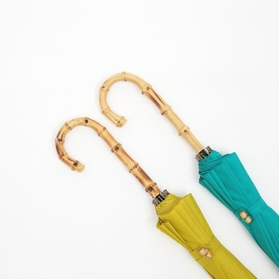 糖果色復古清新文藝加大防風16骨竹子柄木頭柄男女晴雨傘長柄傘