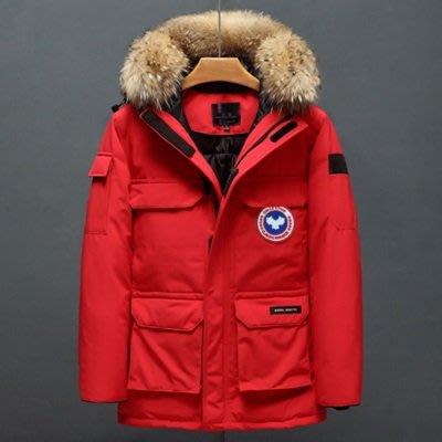 羽絨 外套 連帽夾克-貉子毛領大口袋加厚男外套7色73un1[獨家進口][米蘭精品]