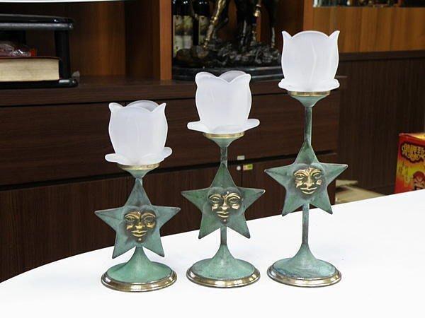 【喬尚拍賣】台灣製外銷歐美銅製家飾樣品【36】星星大中小3支