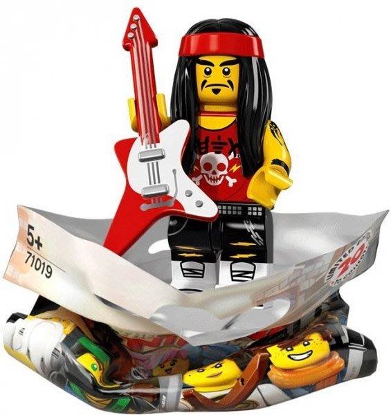 現貨【LEGO 樂高】積木 / 人偶包系列 忍者電影 71019   #17 長髮搖滾手+電吉他 Rocker