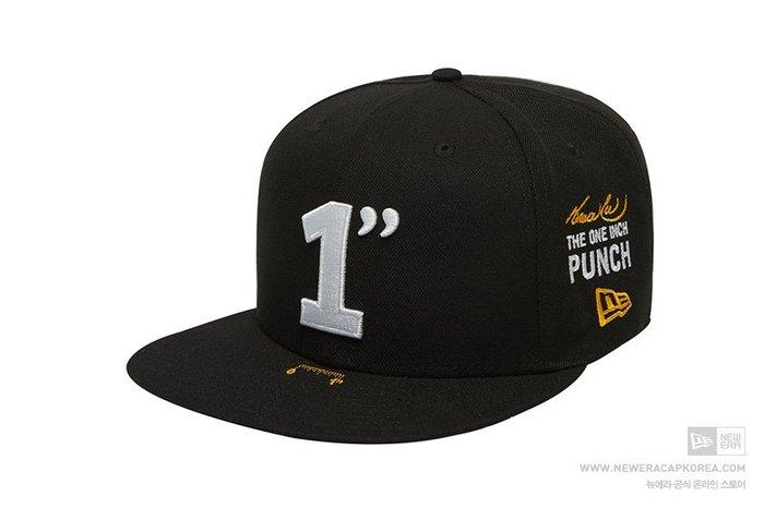 【Easy GO 韓國潮牌代購】NEW ERA x BRUCE LEE 聯名款平簷式棒球帽(黑色)
