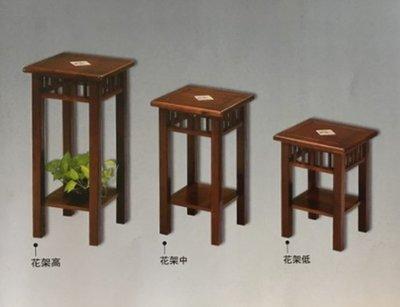 【尚品傢俱-崇德店】 831-12 橡膠木實木高花台架/置物櫃/Locker