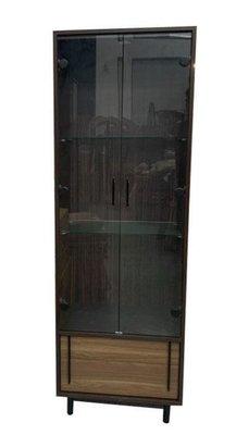 樂居二手家具台中 ZY25BH*新卡爾展示櫃 櫥櫃 高低櫃*酒櫃 玻璃展示架 全新中古傢俱家電 滿千送百豐富喜悅台北