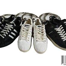 =CodE= ADIDAS SUPERSTAR 小鞋模型鑰匙圈(黑.白) APE NEIGHBORHOOD 吊飾 金標