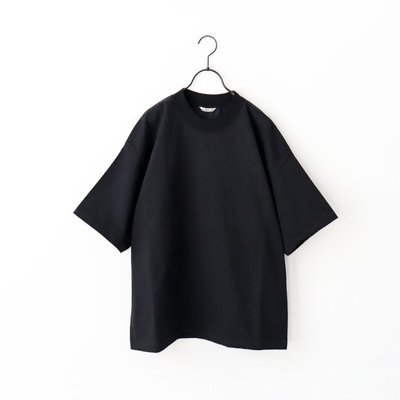20SS AURALEE STAND UP TEE Black A20ST01SU Size:4號