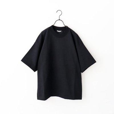 二手美品 20SS AURALEE STAND UP TEE Black A20ST01SU Size:4號