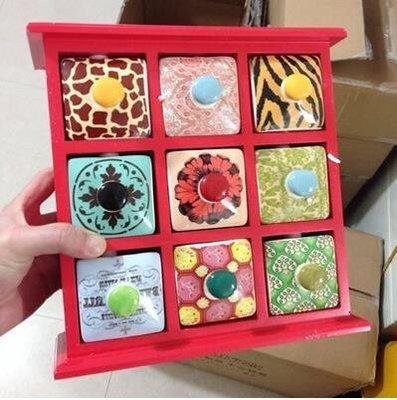 【優上】首飾盒 歐式公主飾品收納化妝盒 閨蜜「經典紅色9格」