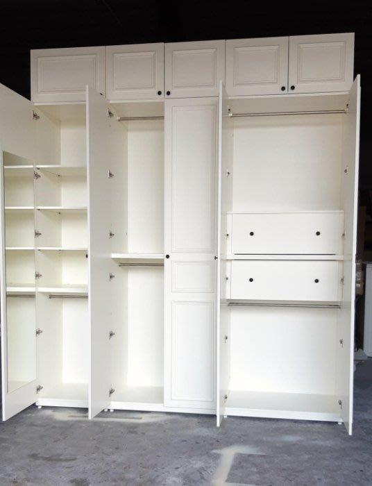 美生活館 美式鄉村風格 象牙白色 衣櫥 衣櫃 系統櫃 收納 訂製品 客定商品 家具訂製 可改尺寸顏色再報價