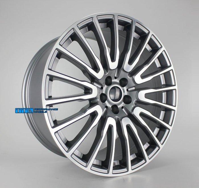 類2018年新款BMW G12 油電車 選配款 21吋 5孔112 前後配 F:8.5J R:10J 灰底車面
