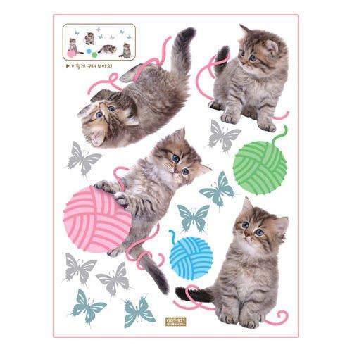 小妮子的家@韓國原裝瓷磚貼/冰箱貼/玻璃貼/廚房浴室貼飾(GDT-921)貓
