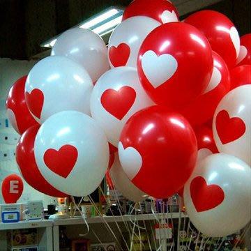 發光派對屋(西門中華店)@12吋加厚愛心圓形氣球(二色可選)