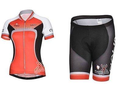 呱啦呱啦代購 2014年款NALINI 女款 車衣車褲短套裝 自行車服 單車服 頂極排汗透氣 騎士服