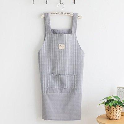 廚房日用 可批發圍裙家用廚房女士做飯防水日系韓版可愛工作歐式時尚文藝圍腰北歐